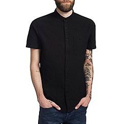 Burton - Black grandad collar oxford shirt