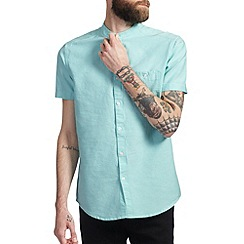 Burton - Mint grandad collar oxford shirt