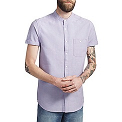 Burton - Purple grandad collar oxford shirt