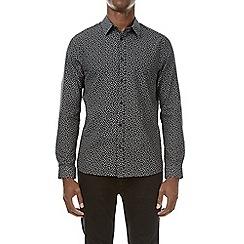 Burton - Black long sleeve paisley print shirt