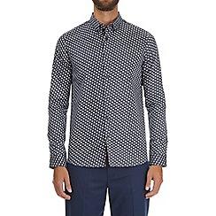 Burton - Navy blue long sleeve printed shirt
