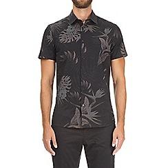Burton - Black short sleeve shadow print shirt