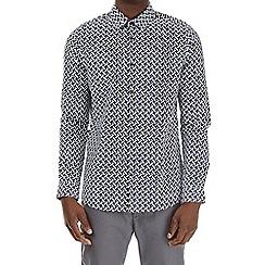 Burton - Purple and black long sleeve geometric print shirt
