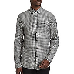 Burton - Cream & black gingham shirt