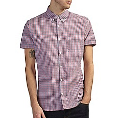 Burton - Red & navy short sleeve gingham shirt