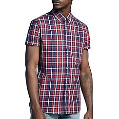 Burton - Red & blue check shirt