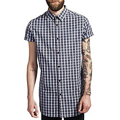 Burton - Blue check longline shirt*