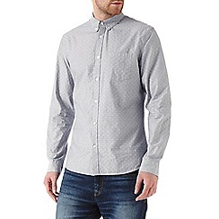 Burton - Long sleeve grey textured shirt