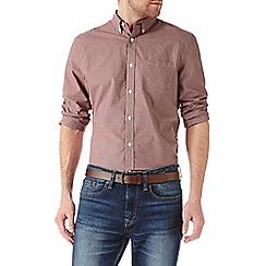 Burton - Long sleeve red gingham shirt