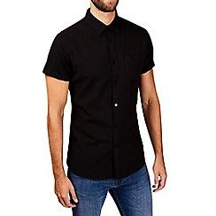 Burton - Black short sleeve linen shirt