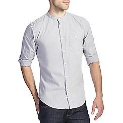 Burton - Grey grandad collar shirt