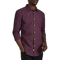 Burton - Burgundy mini check shirt