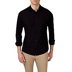 Burton - Black long sleeve smart linen shirt