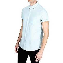 Burton - Mint short sleeve linen shirt