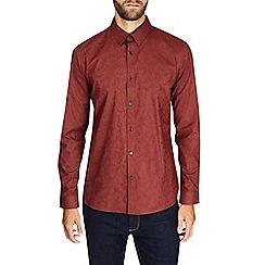 Burton - Montague burton rust jacquard shirt