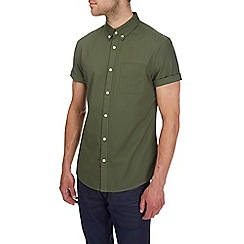 Burton - Short sleeve khaki oxford shirt