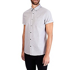 Burton - Grey short sleeve oxford print shirt