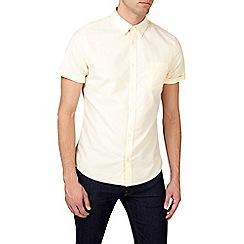 Burton - Yellow short sleeve oxford shirt
