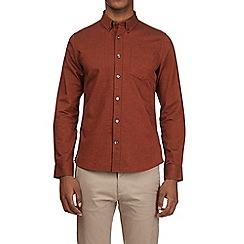 Burton - Rust long sleeve oxford shirt