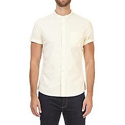 Burton - Yellow short sleeve oxford grandad shirt