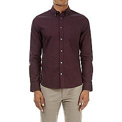 Burton - Plum long sleeve oxford shirt
