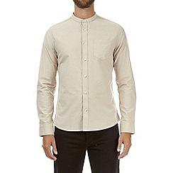 Burton - Stone long sleeve grandad oxford shirt