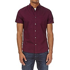 Burton - Magenta short sleeve oxford shirt