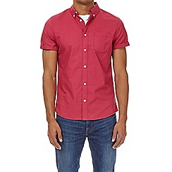 Burton - Fuchsia pink short sleeve oxford shirt
