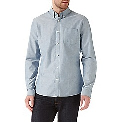 Burton - Long sleeve aqua oxford shirt