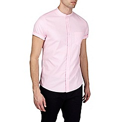 Burton - Pink short sleeve oxford grandad shirt