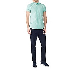Burton - Short sleeve mint oxford shirt