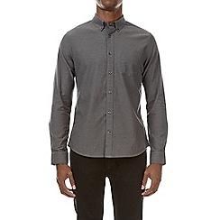 Burton - Charcoal long sleeve oxford shirt