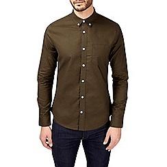 Burton - Khaki long sleeve Oxford shirt