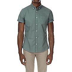 Burton - Green short sleeve oxford shirt