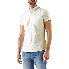 Burton - Short sleeve white oxford shirt