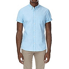 Burton - Bright blue short sleeve oxford shirt