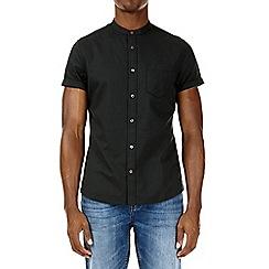 Burton - Green grandad short sleeve oxford shirt