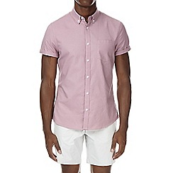 Burton - Rose pink short sleeve oxford shirt