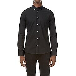 Burton - Black long sleeve oxford shirt