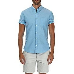 Burton - Turquoise short sleeve oxford shirt