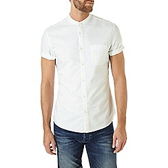 Burton - White short sleeve oxford grandad shirt