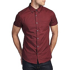 Burton - Burgundy all over print shirt
