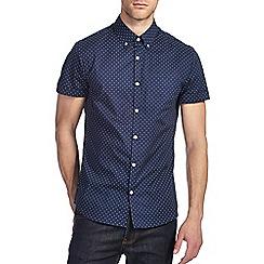 Burton - Navy print shirt