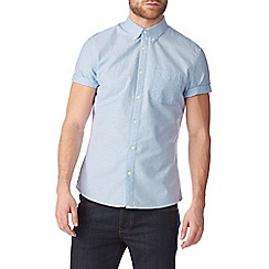 Burton - Short sleeve light blue printed shirt