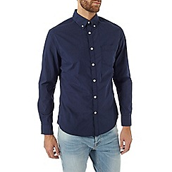 Burton - Long sleeve navy poplin shirt