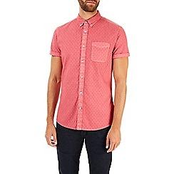 Burton - Short sleeve dobby print shirt