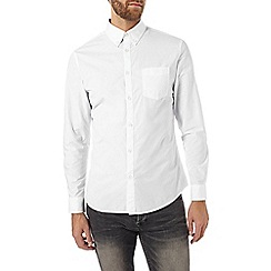 Burton - Long sleeve white poplin shirt