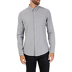 Burton - Long sleeve grey twill shirt