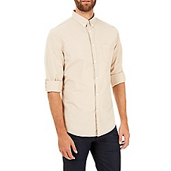 Burton - Long sleeve stone poplin shirt