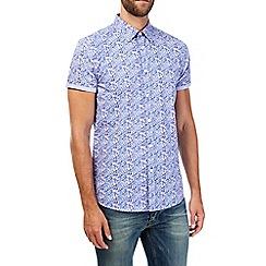 Burton - Short sleeve lilac floral print shirt